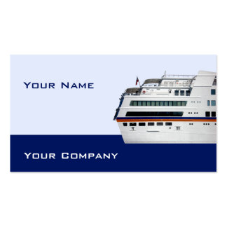 White Cruise Ship Covered Decks Business Card
