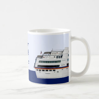 White Cruise Ship Covered Decks Cup Mugs