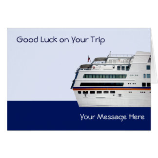 White Cruise Ship Covered Decks Greetings Card