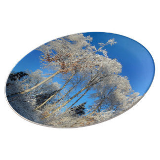 White Crystal Trees Plate
