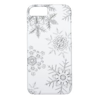 White Crystalline Snowflakes Phone Case