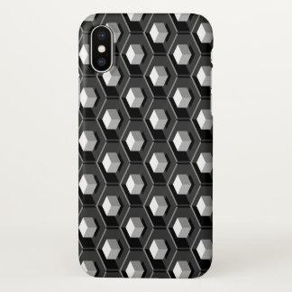 White Cube Pattern Isometric iPhone X Case