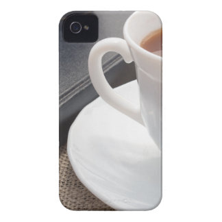 White cup of hot cocoa and a chocolate biscuit iPhone 4 Case-Mate cases