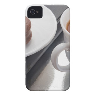 White cup with cocoa and chocolate covered biscuit Case-Mate iPhone 4 case