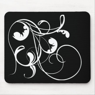 White Curls Mouse Pad