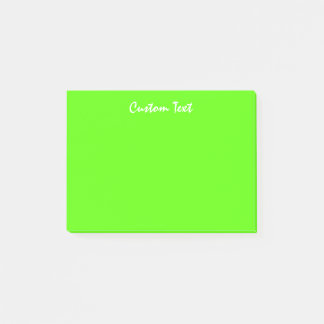 White Custom Text | Vibrant Green Post-it Notes