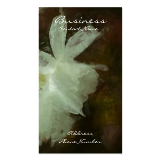 White Daffodils Floral Impressionist Painting Business Card