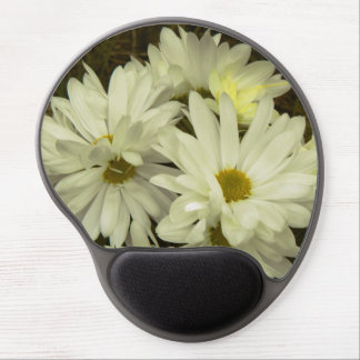 White Daisies 1 Gel Mouse Mat