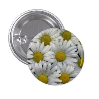 White Daisies 3 Cm Round Badge