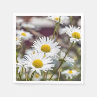White daisies disposable serviette