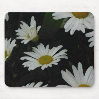 White Daisies Flowers Americana Folk Art Mousepad