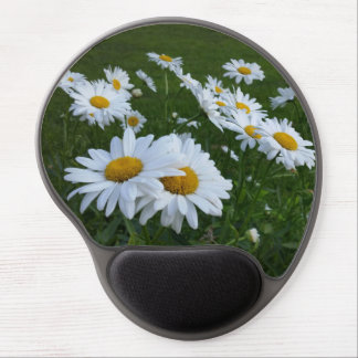 white daisies gel mouse pad
