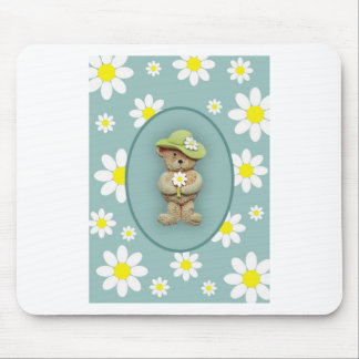 White Daisies Mouse Mat