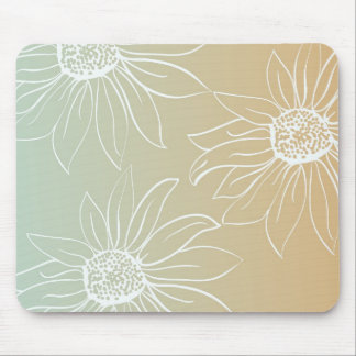 White Daisies Mousepads