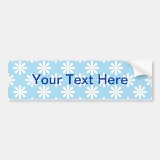 White daisies on baby blue background bumper sticker