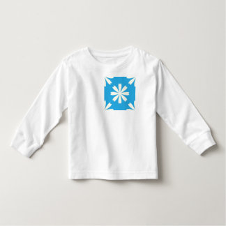 White daisies on baby blue background t shirts