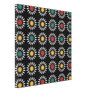 White daisies pattern canvas print