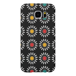 White daisies pattern samsung galaxy s6 cases