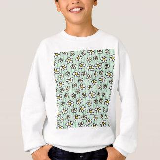 white daisies pattern sweatshirt