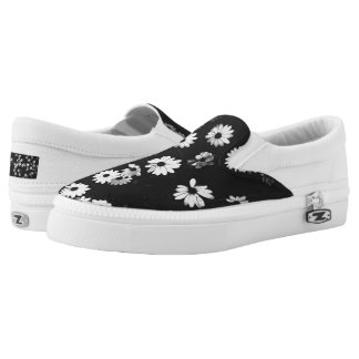 White Daisies Printed Shoes