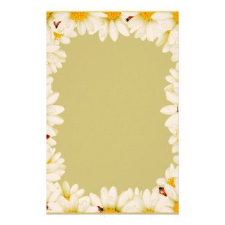 White Daisies Stationary Personalised Stationery