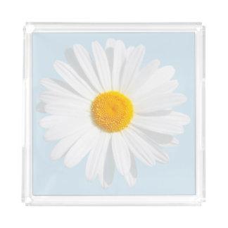 white daisy acrylic tray