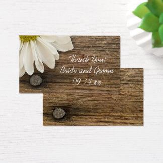 White Daisy Barn Wood Country Wedding Favor Tags