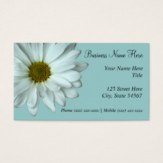 White Daisy Business Cards