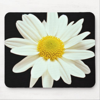 White daisy chrysanthemum  flowers mouse pads