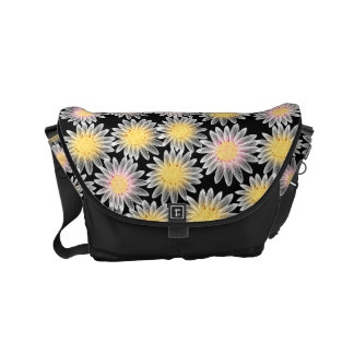 White daisy courier bags