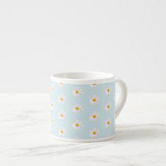 white daisy espresso cup