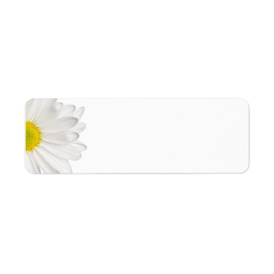 White Daisy Flower Background Customised Daisies Return Address Label