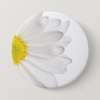 White Daisy Flower Background Customized Daisies 7.5 Cm Round Badge