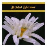White Daisy Flower Bridal Shower Invitation