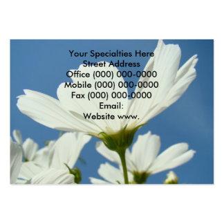 White Daisy Flower Custom Business Cards Floral