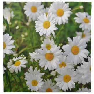 White Daisy Flower Napkin