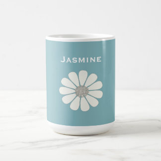 White daisy flower   personalize magic mug