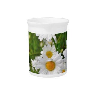 White Daisy Flower Pitcher