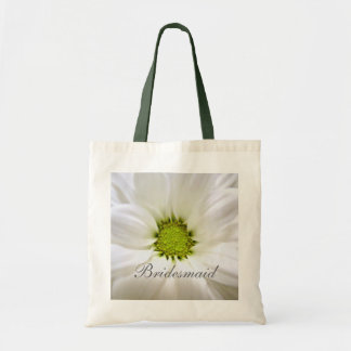 white daisy flower weddings canvas bag