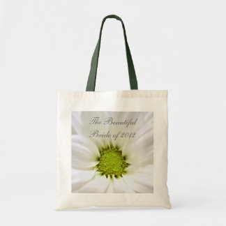 white daisy flower weddings canvas bags
