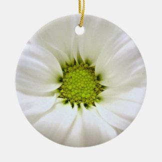 white daisy flower weddings christmas ornament