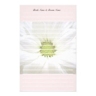white daisy flower weddings stationery design