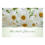 White daisy flowers Bridal Shower Invitation