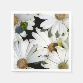 White Daisy Flowers Disposable Napkin