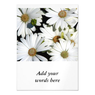 White Daisy Flowers Magnetic Card