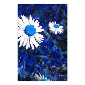 White daisy flowers on blue . Tuscany, Italy Custom Stationery