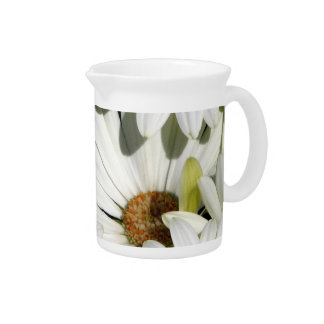 White Daisy Flowers Pitcher