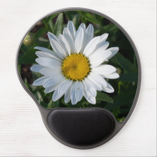 White Daisy Gel Mouse Pad