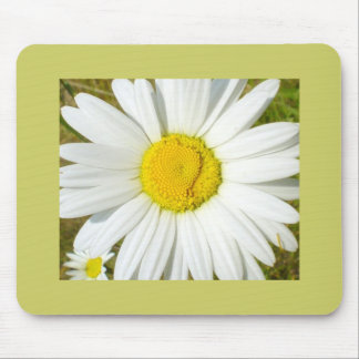 White Daisy Happy Easter Products Mouse Pad