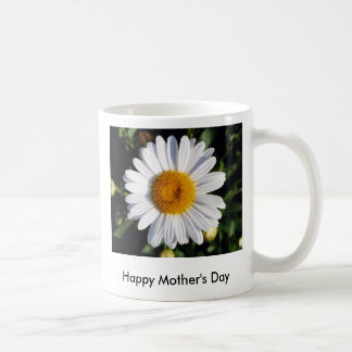 white daisy, Happy Mother's Day Coffee Mugs